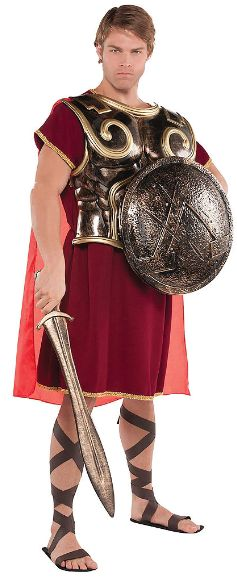 Greek Spartan Chest Plate With Cape