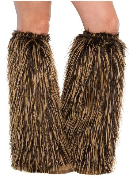 Gods' & Goddesses' Medieval Furry Leg Warmers - Adult