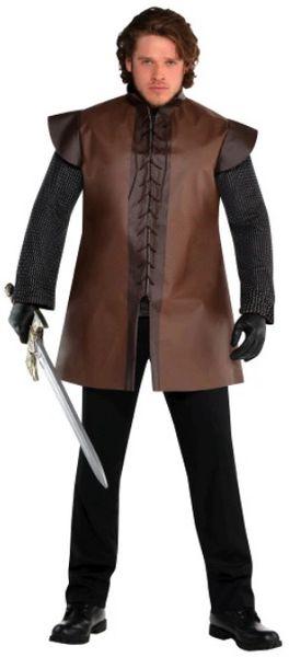 Renaissance Brown Warrior Tunic - Adult Plus