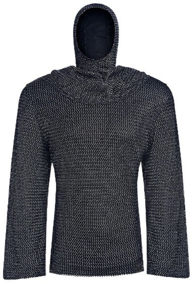 Chain Mail Tunic And Hood - Adult