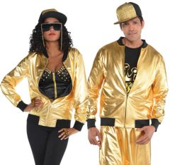 70s Hip Hop Gold Jacket - Adult Standard
