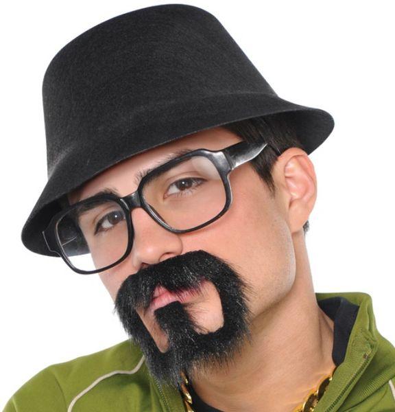 Old School Rap Star Moustache/Goatee - Adult