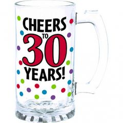 30th Birthday Tankard Glass
