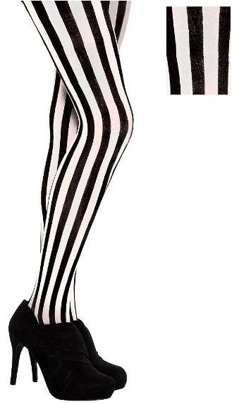 Pirate Striped Tights - Adult Standard