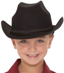 Black Cowboy Hat - Child