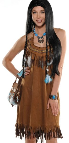 Native American Fringed Dress - Adult Standard & Plus Size