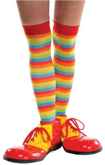Rainbow Striped Knee Highs - Adult