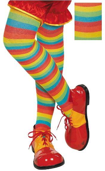 Rainbow Striped Tights - Adult Standard