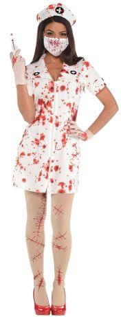 Bloody Nurse Uniform Kit - Woman Standard