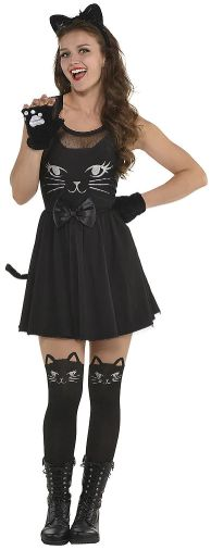 Cat Fit And Flare Dress - Adult Standard
