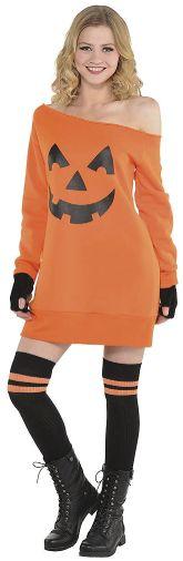 Pumpkin Off Shoulder Tunic - Adult Standard