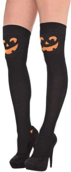 Pumpkin Over The Knee Socks - Adult