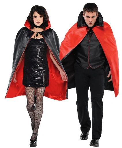 Black Cape With Red Lining