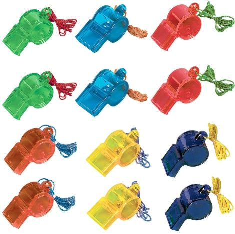 Sports Whistles 12ct