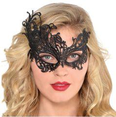 Black Lace Filigree Masquerade Mask