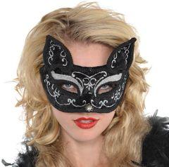 Deluxe Black Cat Mask