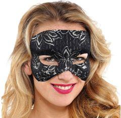 Black Silver Lace Mask