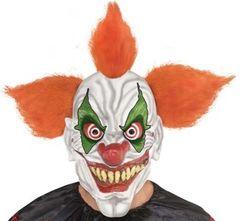 Clown w/ Orange Hair - Full Head Mask