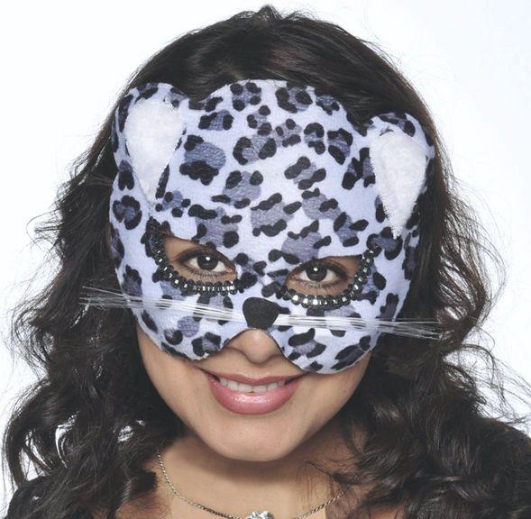 Black Jungle Cat Mask - Child