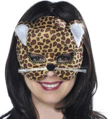 Brown Jungle Cat Mask - Child