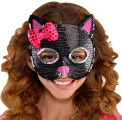 Cat Sequin Mask - Child