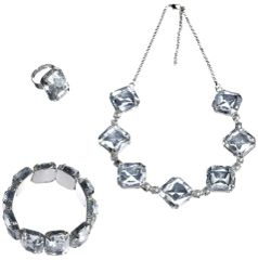 20s Crystal Jewelry Set, 3pc