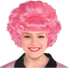 50s Grease Frenchy Pink Wig
