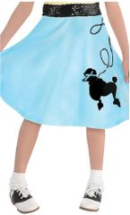 50's Child Poodle Skirt Blue - Standard