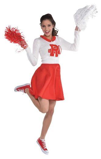 50s Womens Grease Rydell Cheerleader Dress - Standard