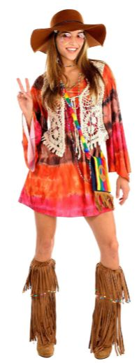 60s or 70s Festival Dress - Adult Standard