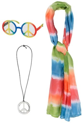 60's Hippie Kit - Adult Standard, 3pc