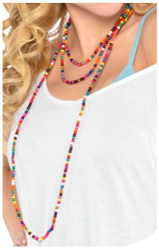 60s Festical Love Beads Necklace