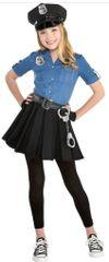 Girls Cop Cutie 2 Costume - Toddler (3-4), Small (4-6), Medium (8-10)