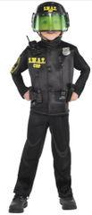 Boys Swat Officer Costume - Small (4-6), Medium (8-10)
