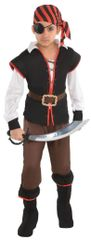 Boys Rebel Of The Sea Costume - Small (4-6) Medium (8-10) Large (12-14)