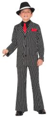 20s Boys Gangster Guy Costume - Medium (8-10), Large (12-14)