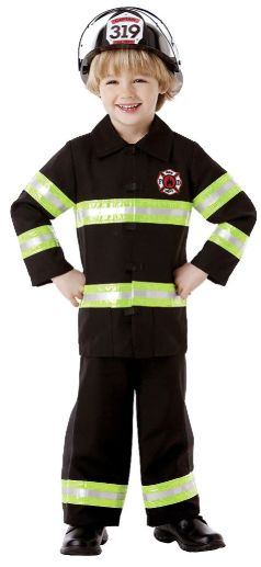 Boys Firefighter Costume - Toddler (3-4), Small (4-6), Medium (8-10)