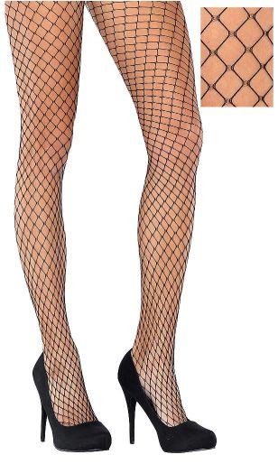 Black Diamond Net Stockings - Adult Standard