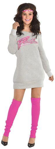 80s Flashdance Sweatshirt Dress - Women Standard