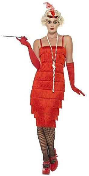 20's Red Flapper Dress - Adult Standard
