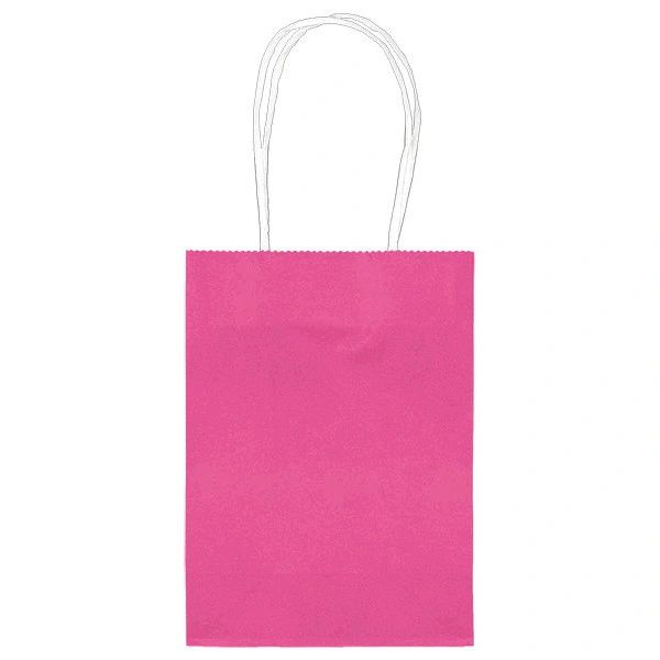 Small Kraft Bag - Bright Pink