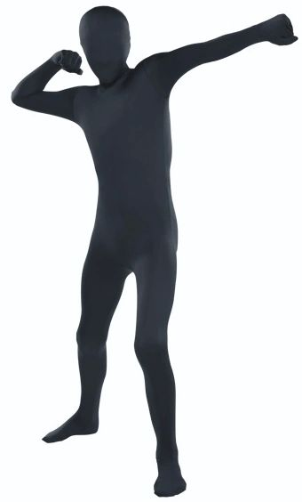 "Teen Black Partysuit™ - Teen Small (up to 4' 5""), Teen Medium (up to 5')"