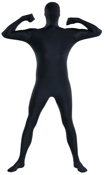 "Adult Black Partysuit™ - Medium (up to 5' 4""), Large (up to 5' 10""), X-Large (up to 6' 3"")"