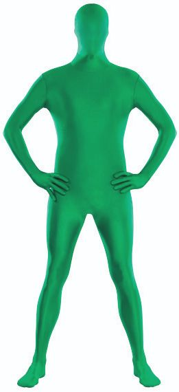 "Adult Green Partysuit™ - Medium (up to 5' 4""), Large (up to 5' 10""), X-Large (up to 6' 3"")"