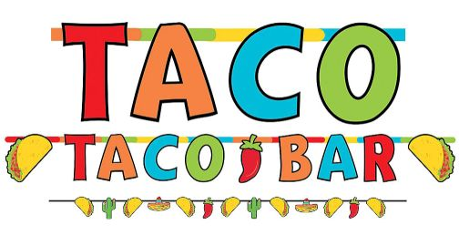 Taco Jumbo Letter Banner Combo, 2ct