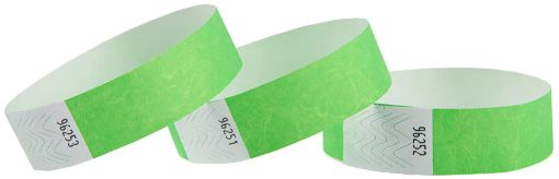 Green Wristbands, 100 ct.
