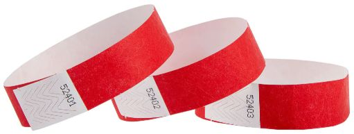 Red Wristbands, 100 ct.