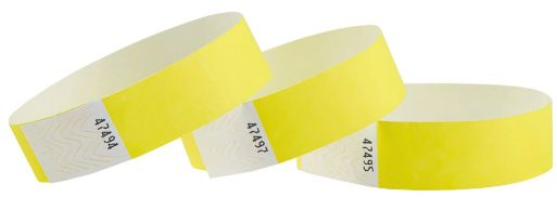Yellow Wristbands, 100 ct.