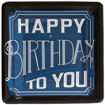 "Happy Birthday Man Dessert Plates 7"" - 8ct"