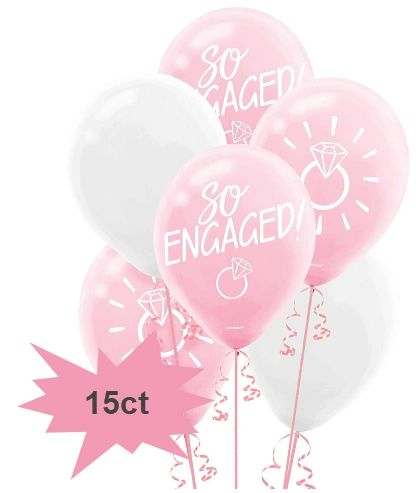 Blush Wedding Latex Balloons, 15ct